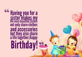 funny birthday sayings for sisters